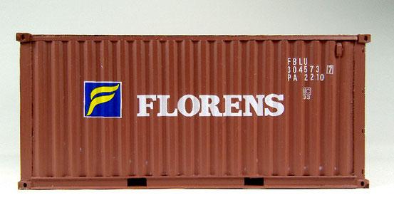 Ein 20' Dry Container der Florens Gesellschaft.