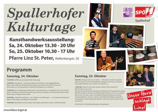 Plakat Spallerhofer Kulturtage 2015