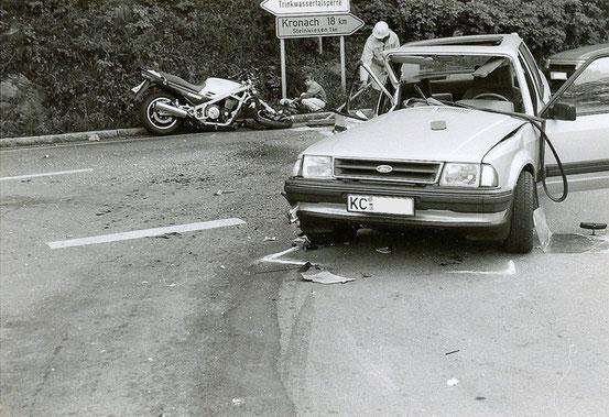 Polizei-Foto vom Unfallort