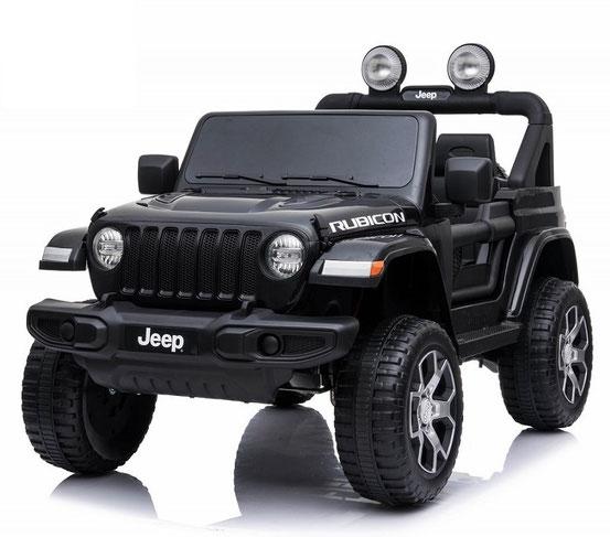 Jeep Wrangler Rubicon/Allrad/Kinderauto/ Kinder Elektroauto/lizensiert/2 Sitzer/schwarz lackiert/
