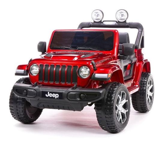 Jeep Wrangler Rubicon/Allrad/Kinderauto/ Kinder Elektroauto//lizensiert/2 Sitzer/weinrot lackiert/