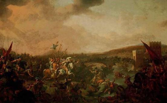 Lingelbach Joh.: Schlacht a.d. milvinischen Brücke