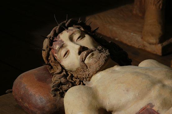 Deposizione, Particolare del Cristo.