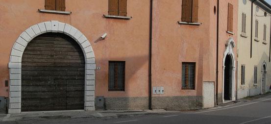 Palazzo Panizza-Pozzi, Scorcio.