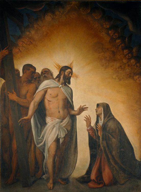 Il Cristo Risorto appare alla Madre.
