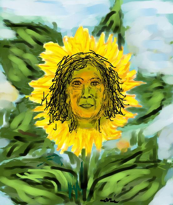 RITRATTO DI LUCIA D'ALESSANDRO - 2012 dipinto eseguito a mano libera al pc