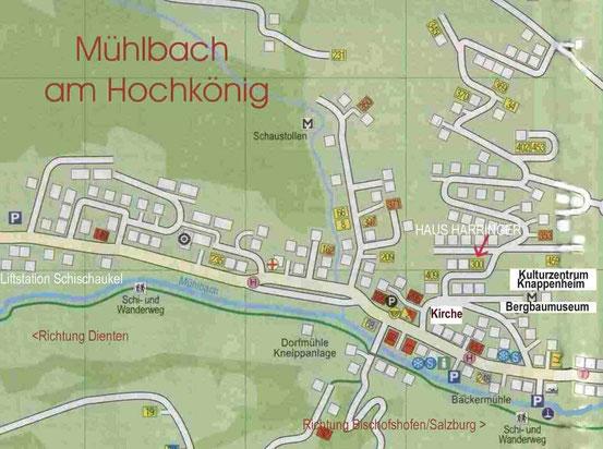 Mühlbach am Hochkönig - Lageplan