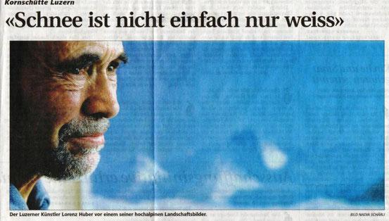 Neue Luzerner Zeitung, 12. Januar 2010: Bericht von der Ausstellung in der Kornschütte, Luzern/CH
