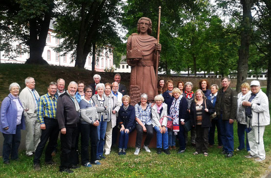 Gruppenfoto auf der Hinfahrt in Prüm - Foto: HPD