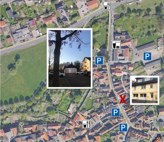 Parkplatzsituation bei KalusControl - Luftbild von Google-Maps
