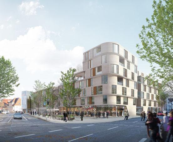 Blick Richtung Stadtmitte, KTP-Architekten
