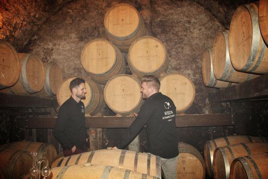Rotwein Lagerung und Besichtigung der Weinkellerei Alois Lageder