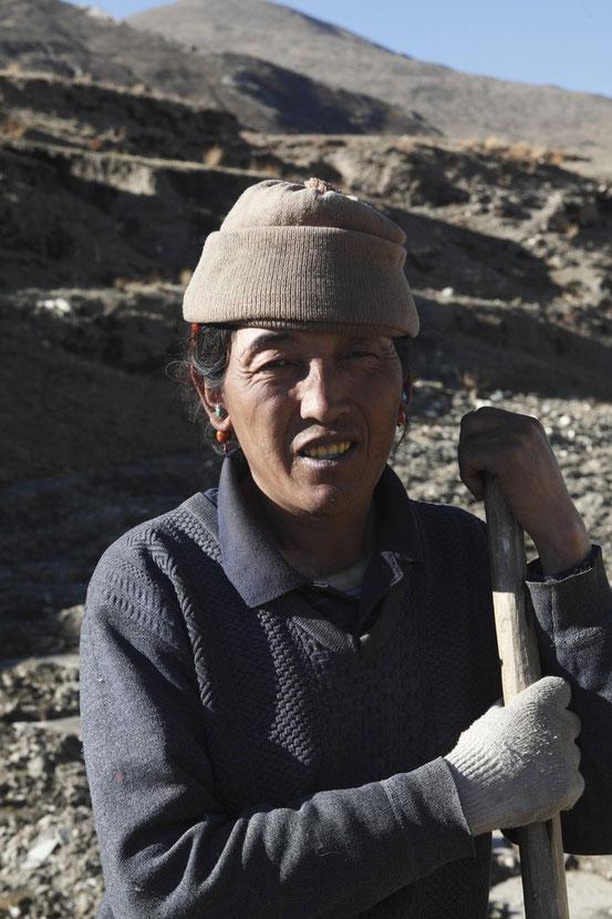 Bäuerin in Tibet