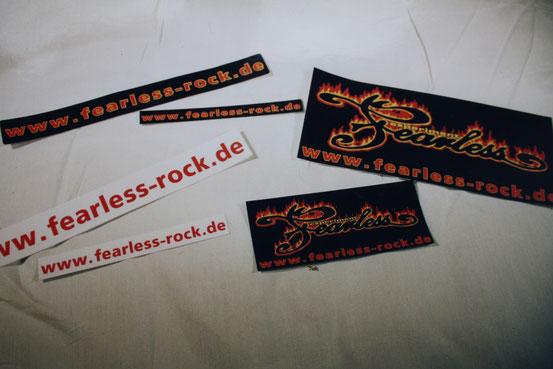 verschiedene Fearless aufkleber für Stück: 0,50€