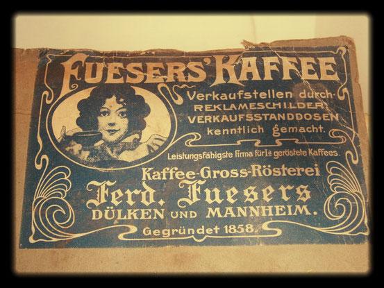 Fueser´s Kaffee-Gegründet 1858