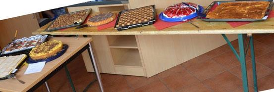 unser Kuchen-Buffet