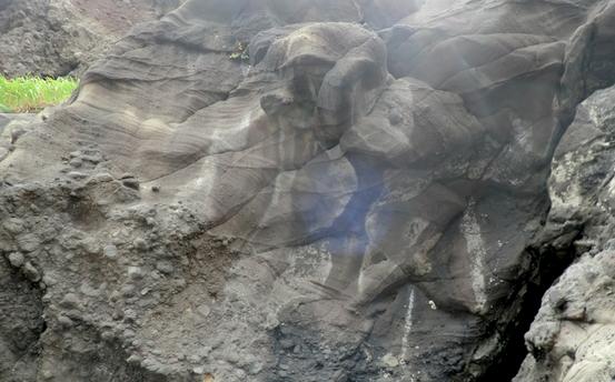 妻良湾の地層