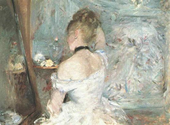ベルト・モリゾ《化粧室の女性》1875年