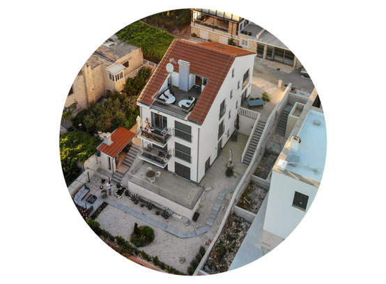 holiday home seen from above