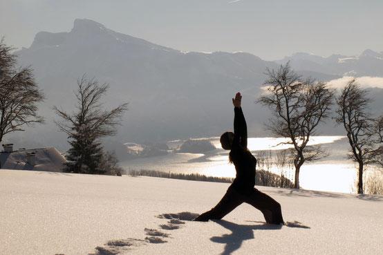 Yoga ist auch Rückzug der Sinne und Meditation.