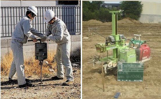 写真―1 SWS試験機の例(左が手動式,右が全自動)