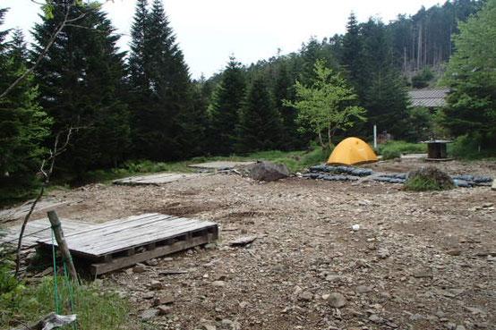 テント泊体験 硫黄岳 登山 講習会 オーレン小屋