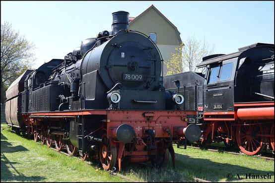 Ein weiteres Bild der Maschine entstand am 19. April 2015 zum 7. Dresdner Dampfloktreffen