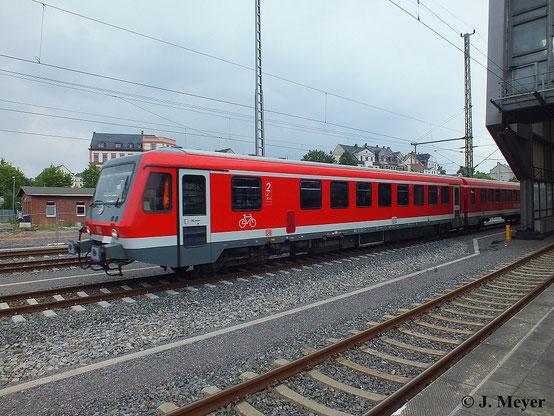 Mit 628/928 332-9 und 628/928 220-6 gab es am 30. Juli 2014 einen seltenen Gast in Chemnitz Hbf. zu sehen
