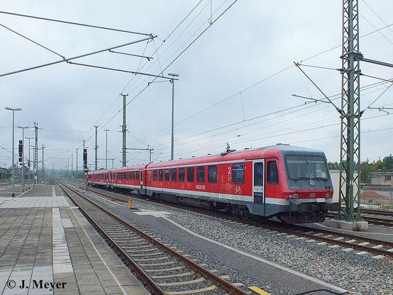 Mit 628/928 220-6 und 628/928 332-9 gab es am 30. Juli 2014 einen seltenen Gast in Chemnitz Hbf. zu sehen
