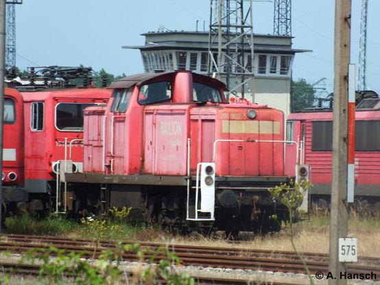291 902-5 ist eine von vielen z-gestellten Loks in Rostock Seehafen. Am 22. Juli 2014 entstand diese Aufnahme