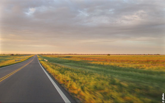 Landstraßen im Morgenlicht