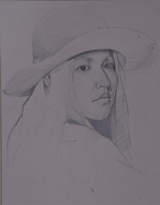 出品素描1 妻和子の像