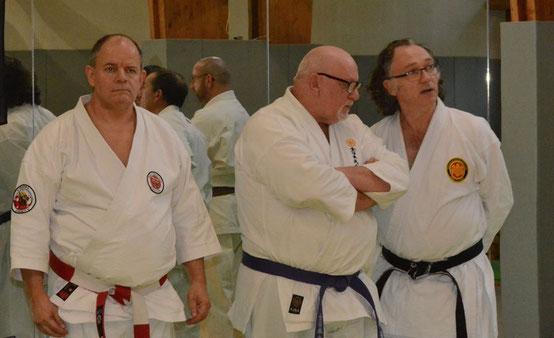 T. Guinn, 8ème Dan - K. O'connor, 9ème Dan - F. Masseix, 7ème Dan-Japon