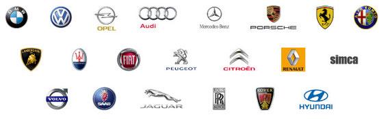ダイアガン対応車種のロゴ