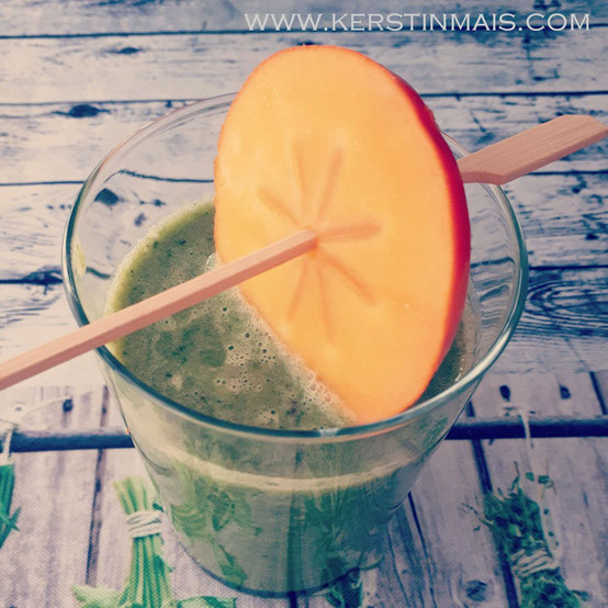 Dekorativer grüner Smoothie made by Kerstin Mais