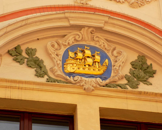 Bautzen goldenes Schiff Reichensttrasse Bild: Susann Wuschko