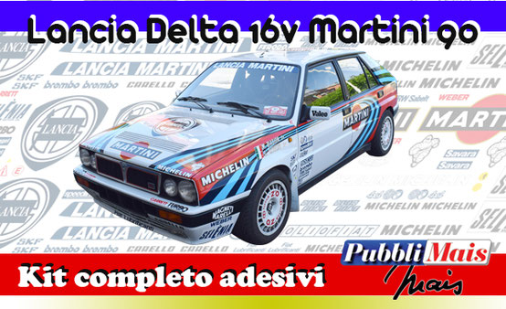 price cost kit complete stickers decals sponsor lancia delta integrale 16v 1990 90 martini online shop pubblimais