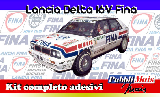 price cost kit complete stickers decals sponsor lancia delta 16v 1991 fina edition first oil online shop pubblimais cerrato