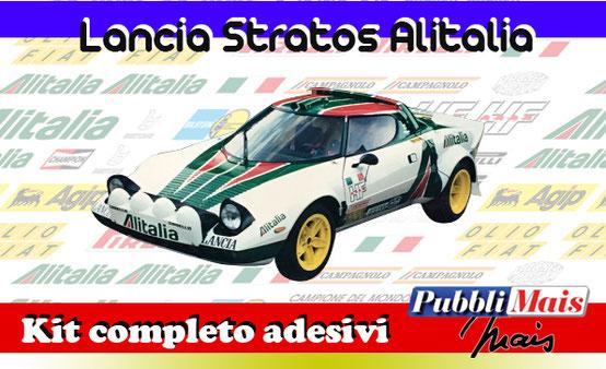 graphics sticker decal kit complete adhesive sponsor original lancia stratos alitalia pubblimais online shop sell cost price