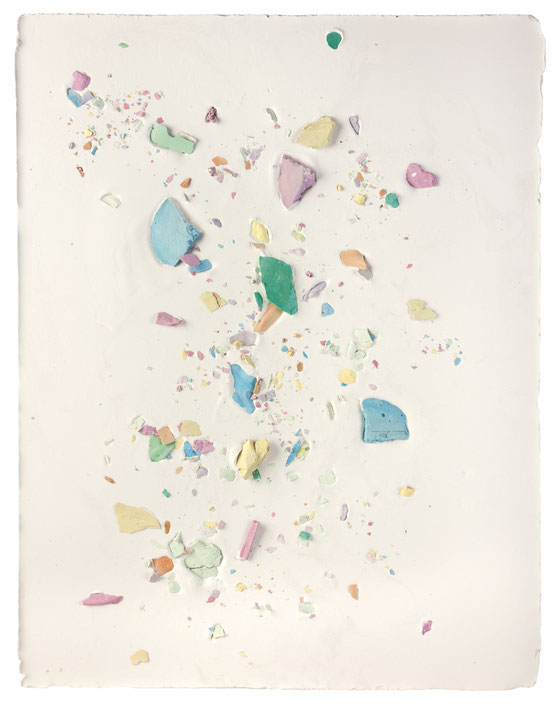 Plaster Painting #9, 2016, pigmented plaster on plaster, 52x40cm  Foto: Anna Lott Donadel