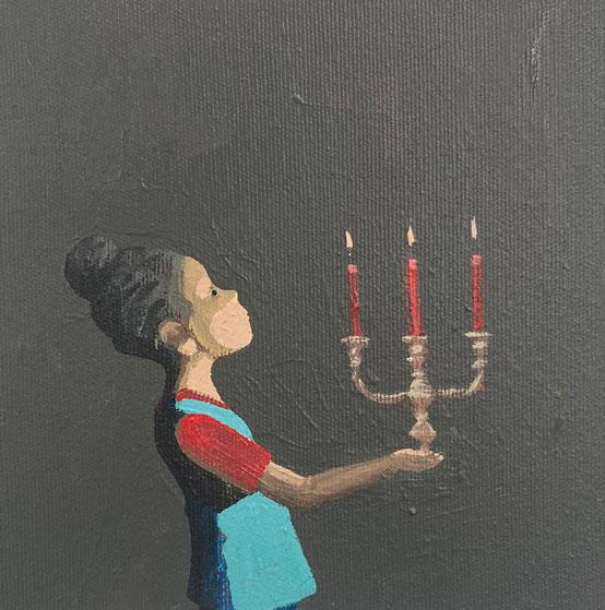 candles - Acryl auf Leinwand, 20x20cm, 2020