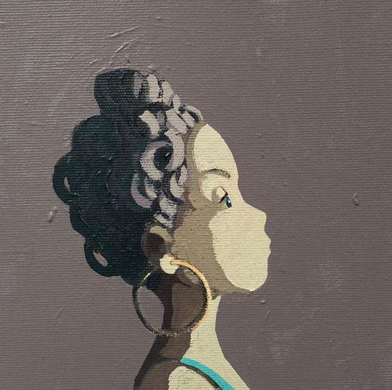 earring - Acryl auf Leinwand, 20x20cm, 2020 | verkauft
