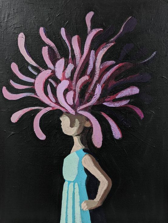 decorated - Acryl auf Leinwand, 40x30cm, 2019 | verkauft