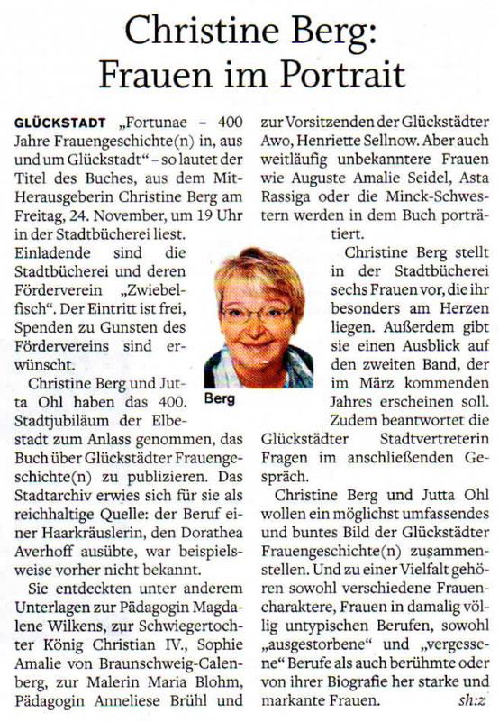Christine Berg: Frauen im Portrait