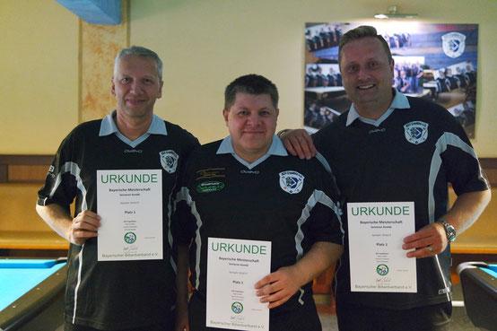 Landesmeister Mannschaft Senioren: Sascha Zinowsky, Dirk Schwedes und Mario März