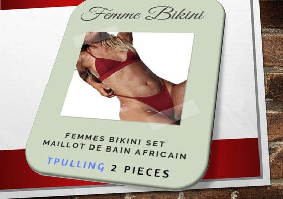 Tpulling Femmes Push-up rembourrés Soutien-Gorge Bikini [ Maillot de Bain Femme 2 Pieces ] 5891