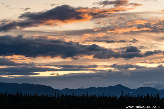Sonnenuntergang in Alaska