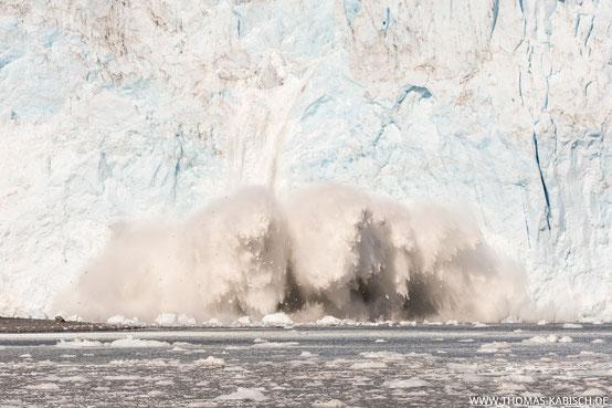 Gletscherabbruch kalbender Gletscher