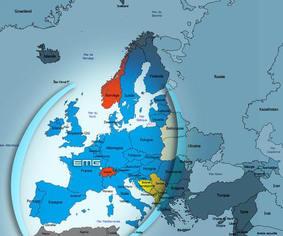 Un atout pour EMG, sa situation géographique au cœur de l'Europe