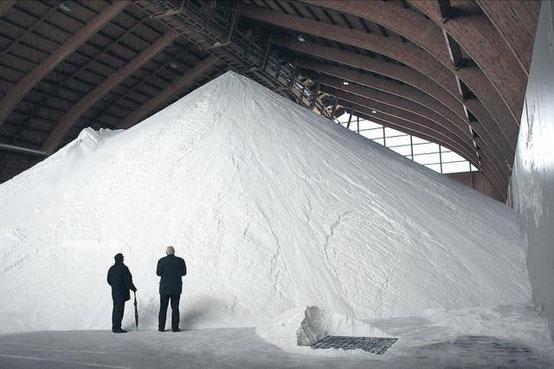 Das ganze Salz will schliesslich verteilt werden...